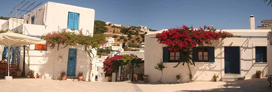 Pueblo de Milos en Grecia