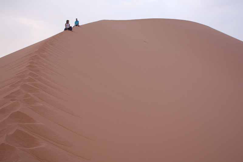 Explorando vistas desde dunas