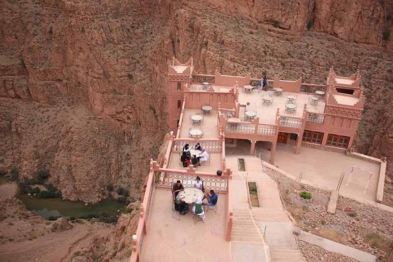 Restaurante en cañón del Todrá