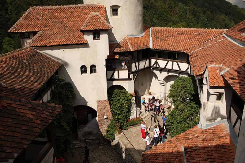 Interior del castillo de Brasov