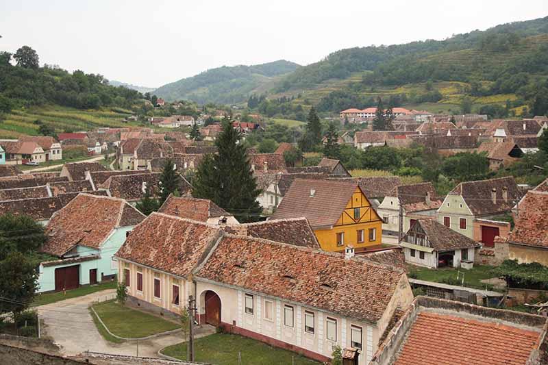 Vista desde la torre de  Prejmer