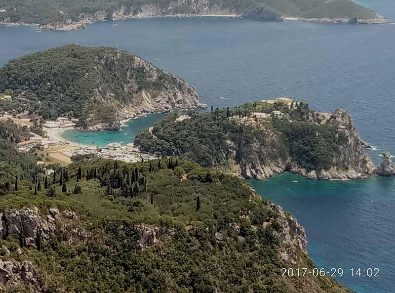 Paleokastritsa, isla de Corfú