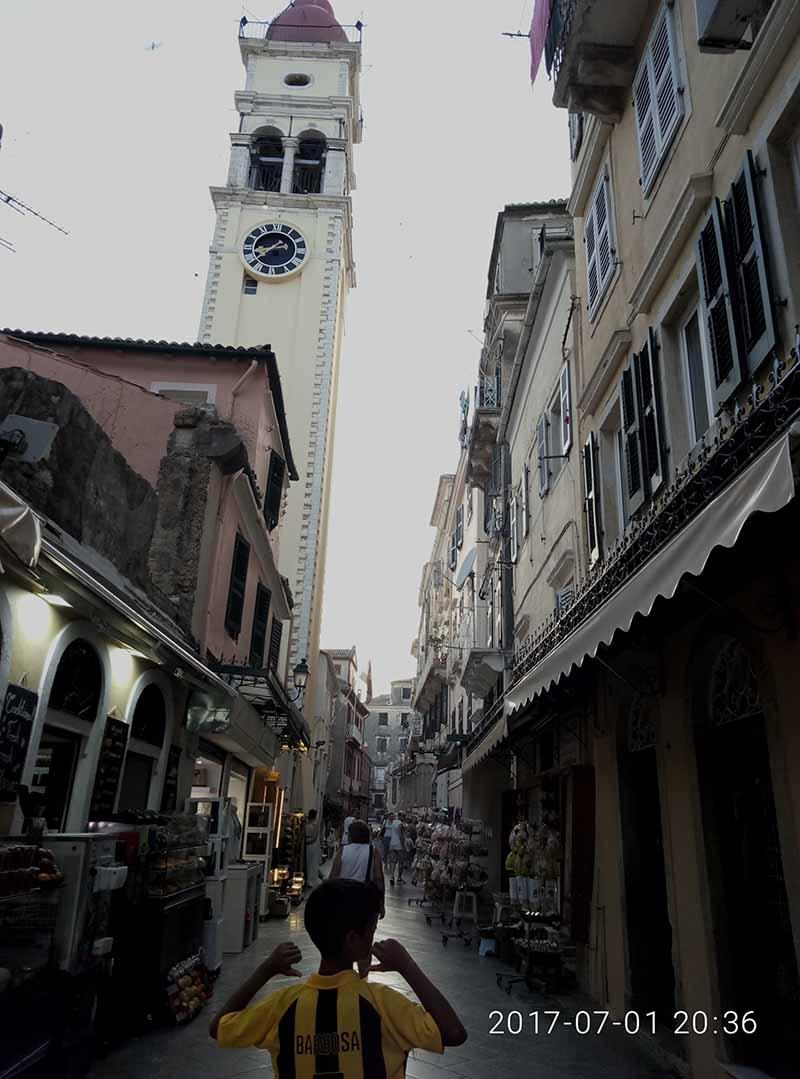 Capital de isla de Corfú